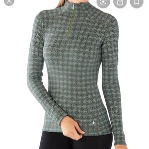 SmartWool 250 Base Layer Pattern 1/4 Zip Pullover